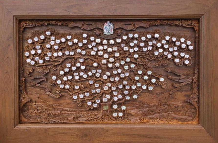 семейное древо из дерева резное панно из массива дерева
