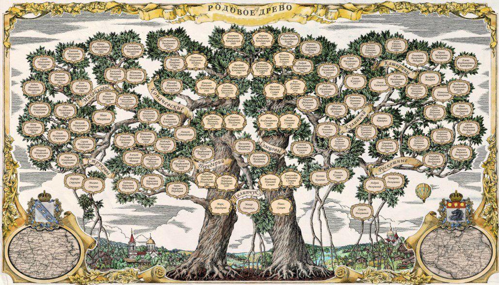 художественное семейное древо